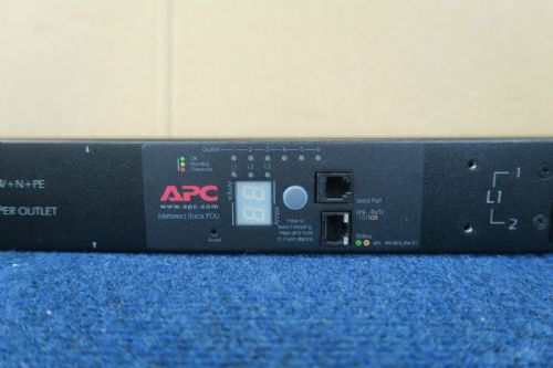 APC AP7855A - Rack PDU, Metered, Zero U, 22kW, 400V, (6) C19 Power Distribution